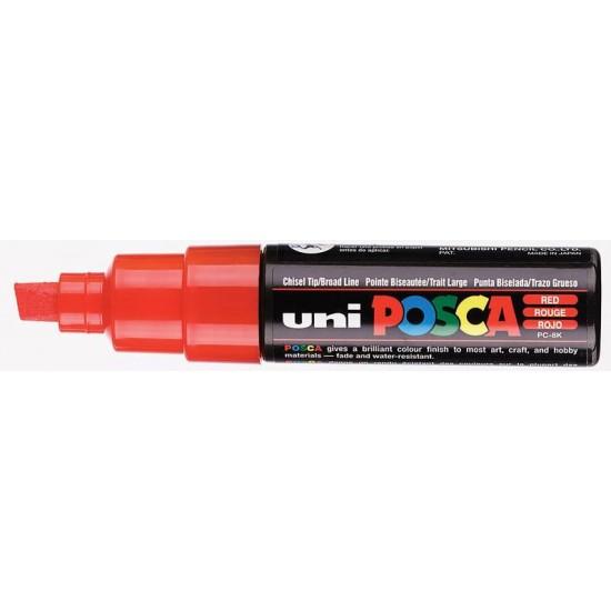 Μαρκαδόρος σχεδίου Uni Posca PC-8K 8.0mm Κόκκινο