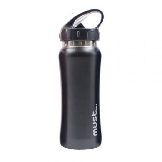 ΠΑΓΟΥΡΙΑ MUST ΜΟΝΟΧΡΩΜΑ 500 ml BPA FREE ΜΑΥΡΟ