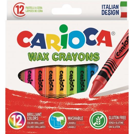 Κηρομπογιές Carioca Wax 12 χρωμάτων