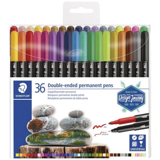 staedtler Διπλοί Μαρκαδόροι 36 χρωμάτων