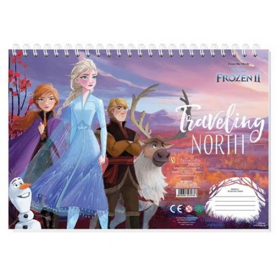 Μπλοκ Ζωγραφικής Frozen II 40 φ. 23X33