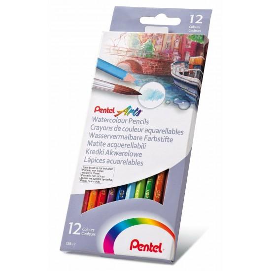 Ξυλομπογιές Pentel  Aquarell 12