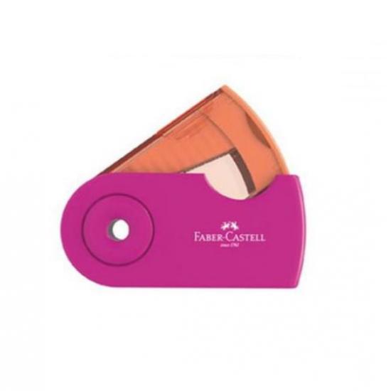 Ξύστρα Faber Castell Sleeve Mini Μονή Ροζ