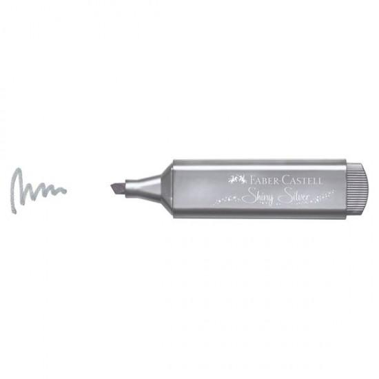 Μαρκαδόρος υπογράμμισης Faber Castell Shiny Silver Μetallic Textliner