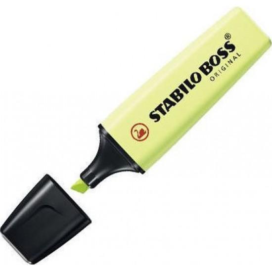 Μαρκαδόρος υπογράμμισης Stabilo Boss 70/133 Pastel Κιτρινοπράσινο